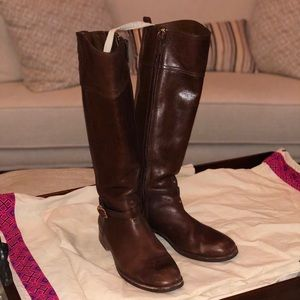 Tory Burch Brown Leather Riding Boot